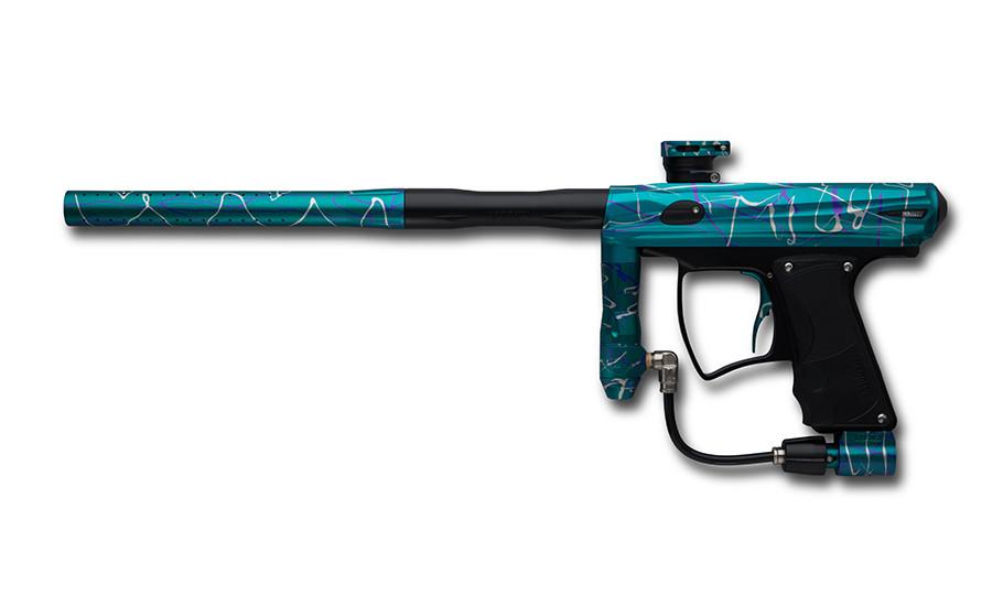 MacDev Drone DX- Teal w/ Violet and White Splatter
