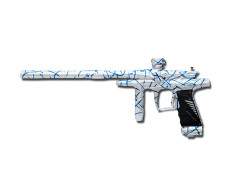 Bob Long Flame- White Dust w/ Blue Splash