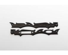 Gen 2 Laser Engraved Frame Plate- Black